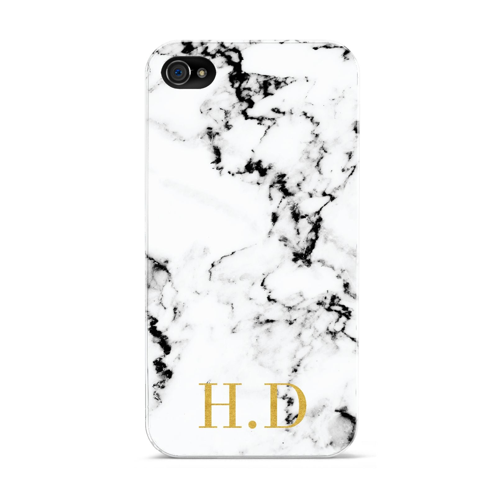 Personalised Gold Initials Marble New Apple iPhone 4s Case