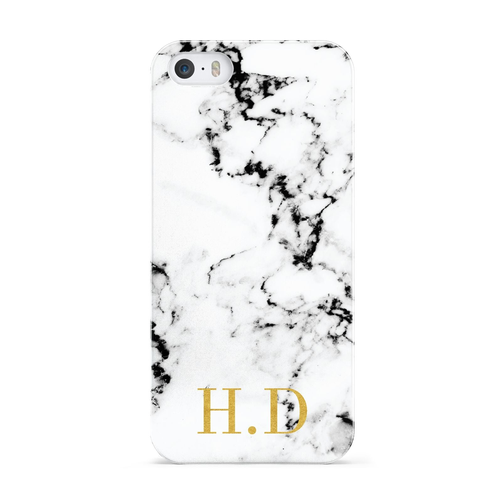 Personalised Gold Initials Marble New Apple iPhone 5 Case