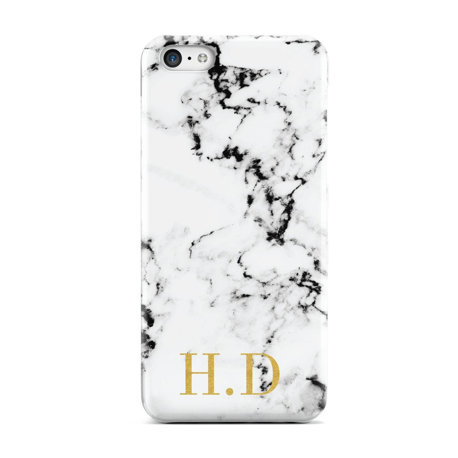 Personalised Gold Initials Marble New Apple iPhone 5c Case