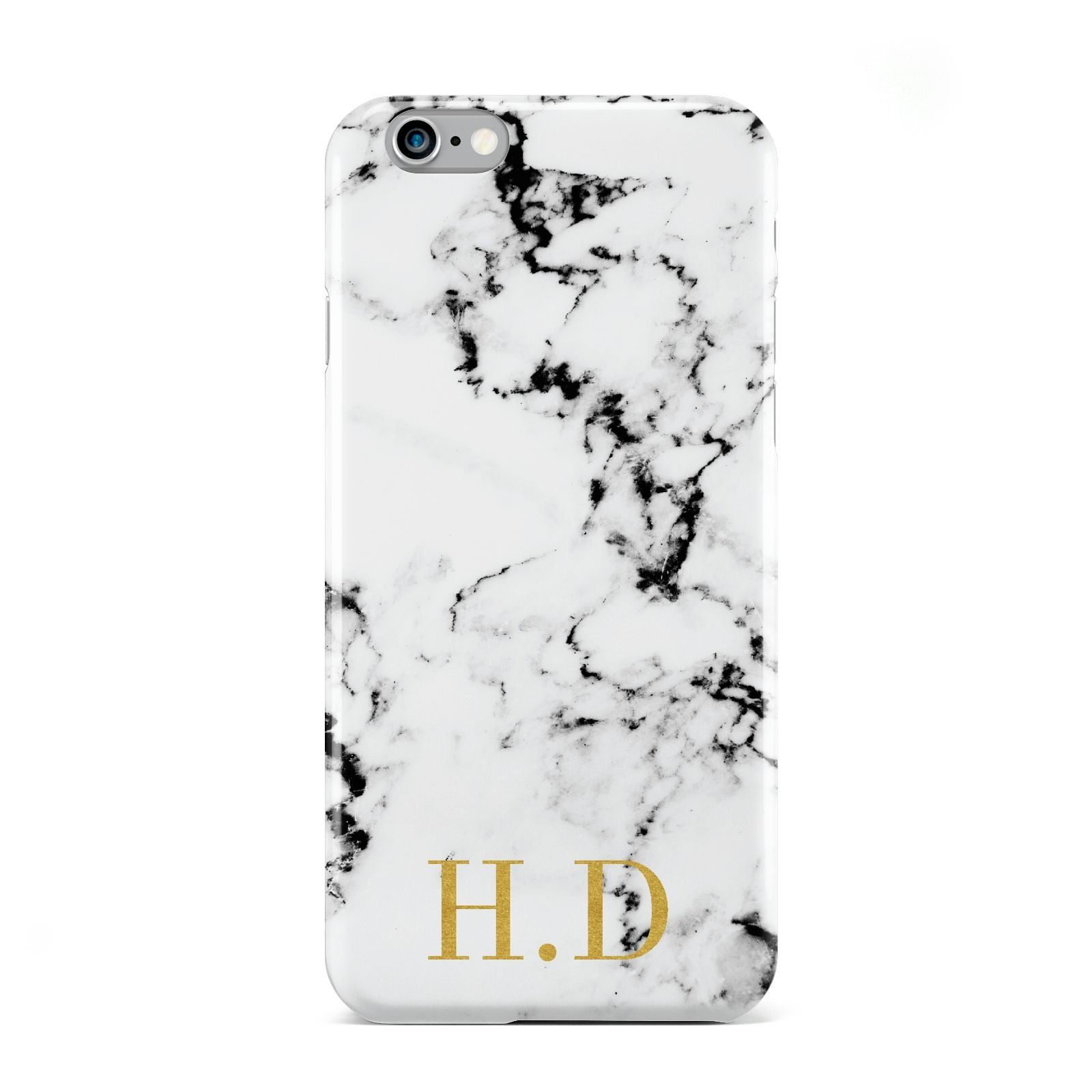 Personalised Gold Initials Marble New Apple iPhone 6 Case