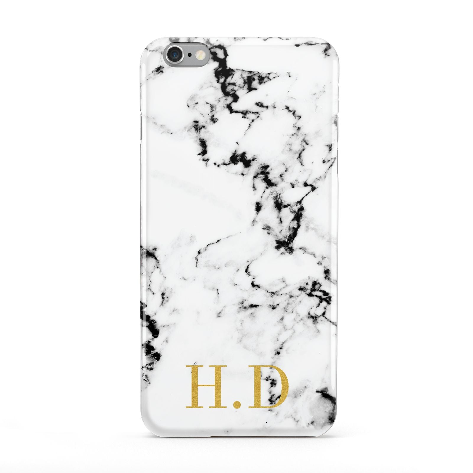Personalised Gold Initials Marble New Apple iPhone 6 Plus Case