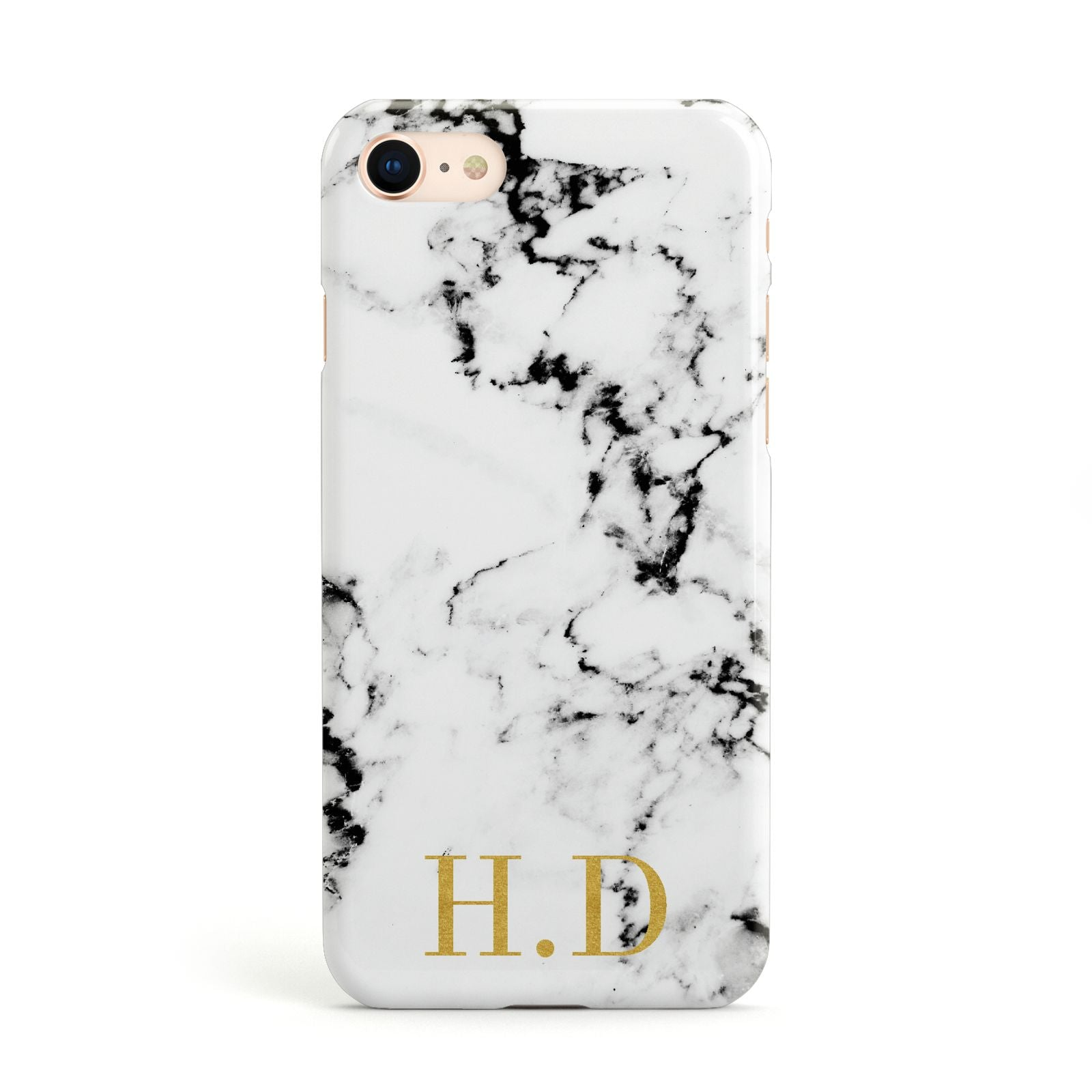 Personalised Gold Initials Marble New Apple iPhone Case