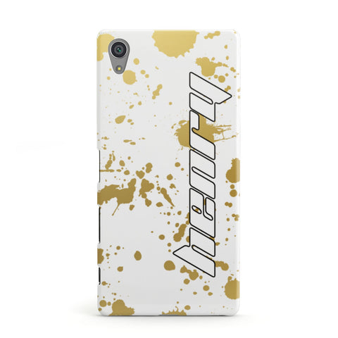 Personalised Gold Ink Splash Sony Case