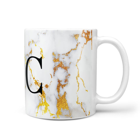Personalised Gold Marble Initials Monogram Mug