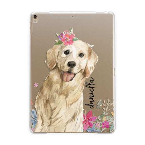 Personalised Golden Retriever Dog iPad Case