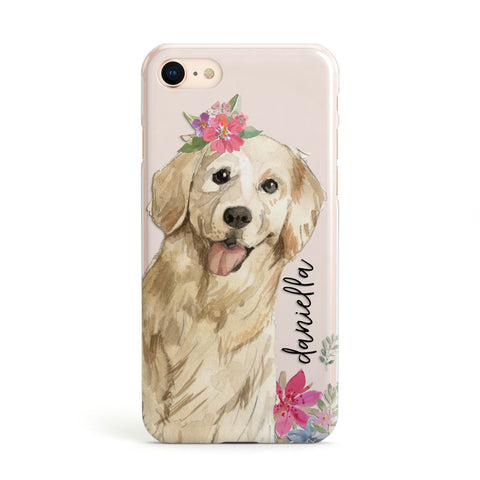 Personalised Golden Retriever Dog iPhone Case