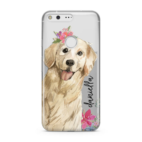 Personalised Golden Retriever Dog Google Case
