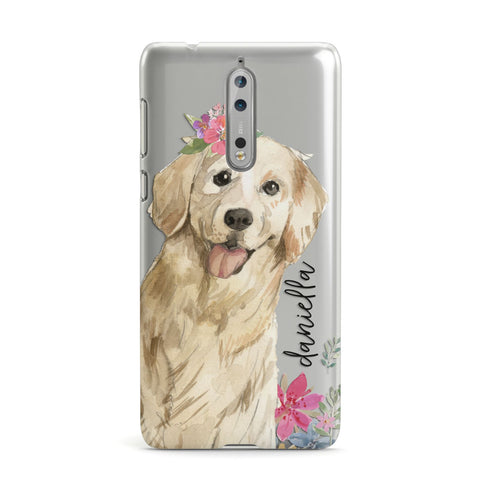 Personalised Golden Retriever Dog Nokia Case