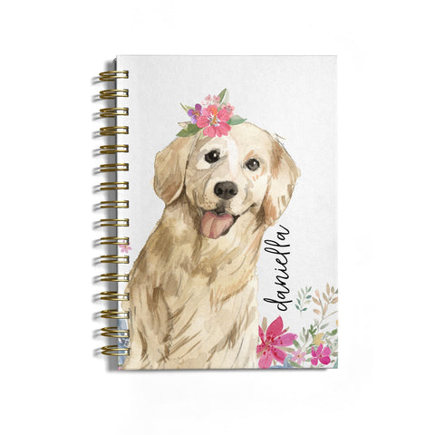 Personalised Golden Retriever Dog Notebook