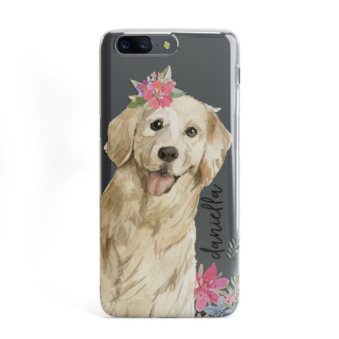 Personalised Golden Retriever Dog OnePlus Case