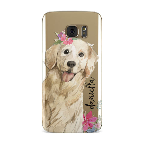 Personalised Golden Retriever Dog Samsung Galaxy Case