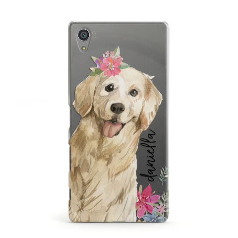 Personalised Golden Retriever Dog Sony Case