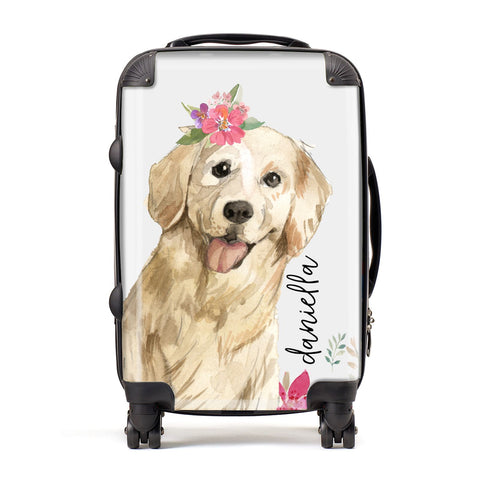 Personalised Golden Retriever Dog Suitcase