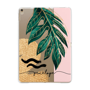 Personalised Golden Tropics Apple iPad Gold Case