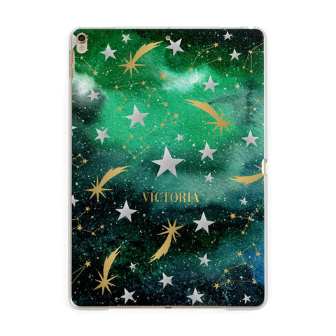 Personalised Green Cloud Stars iPad Case