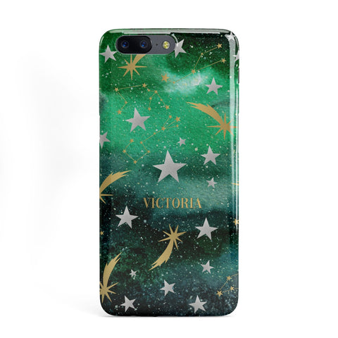 Personalised Green Cloud Stars OnePlus Case