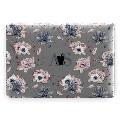 Personalised Halloween Floral Apple Macbook Case