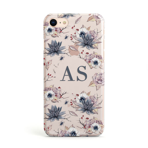 Personalised Halloween Floral Apple iPhone Case
