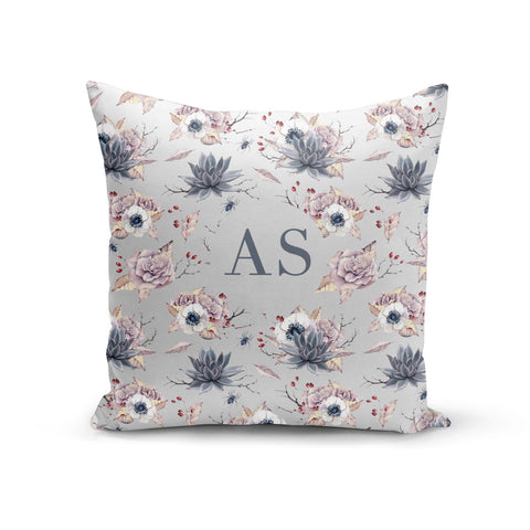 Personalised Halloween Floral Cushion