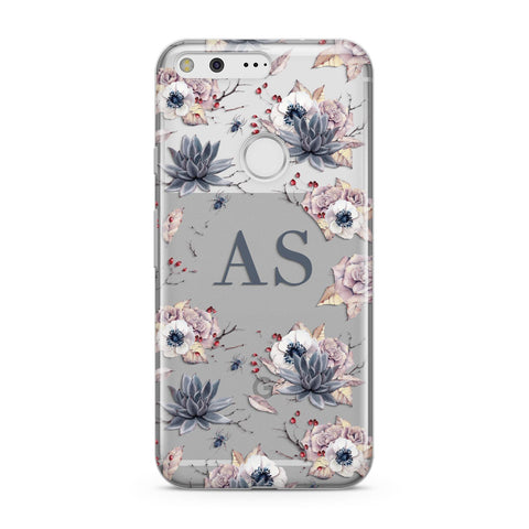 Personalised Halloween Floral Google Case