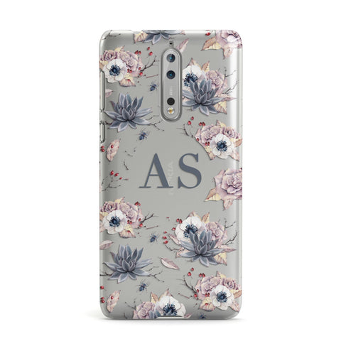 Personalised Halloween Floral Nokia Case
