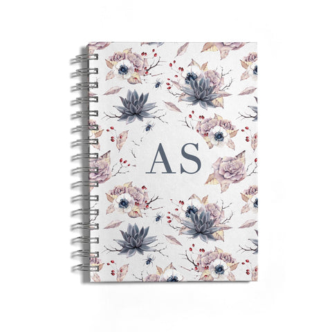 Personalised Halloween Floral Notebook