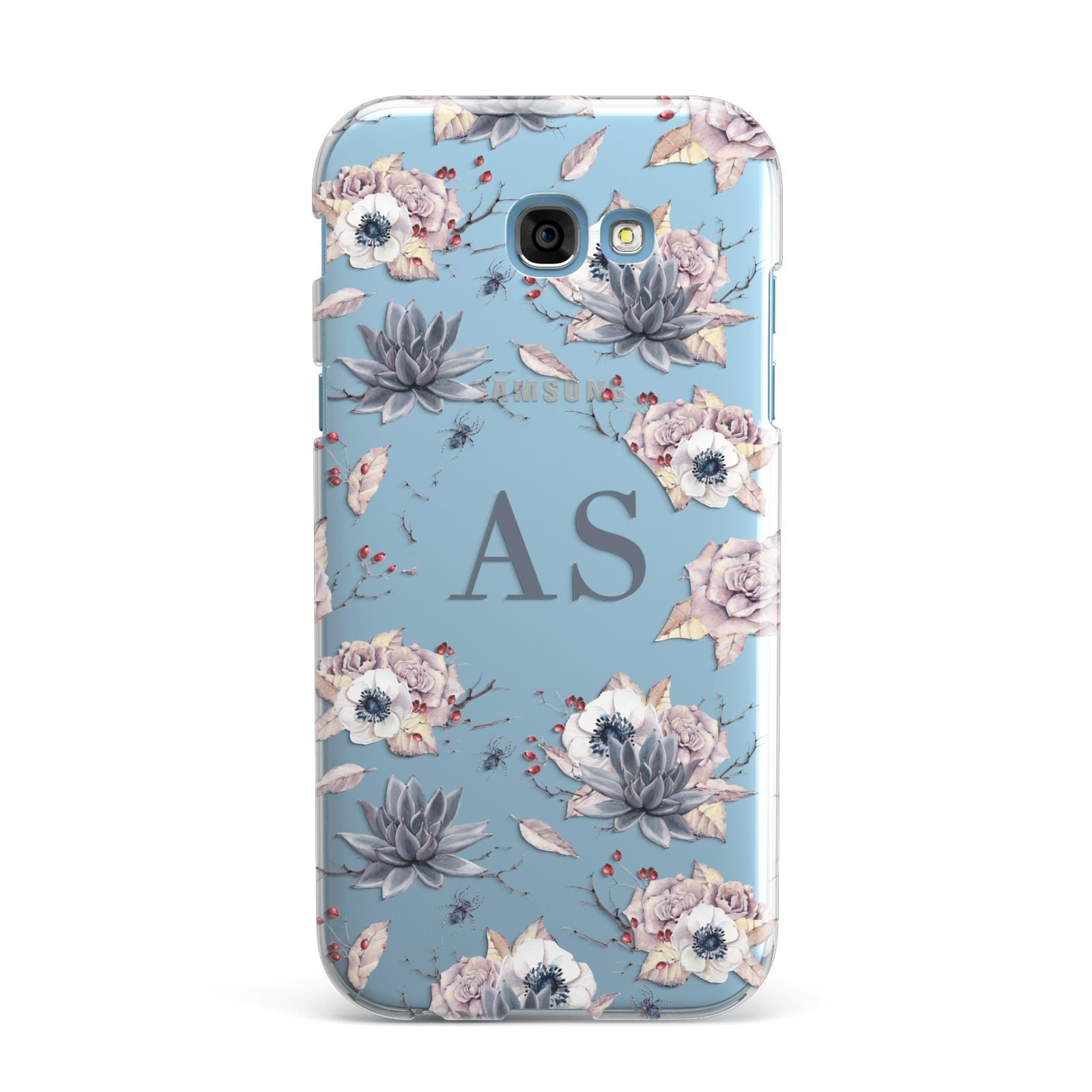 Personalised Halloween Floral Samsung Galaxy A7 2017 Case