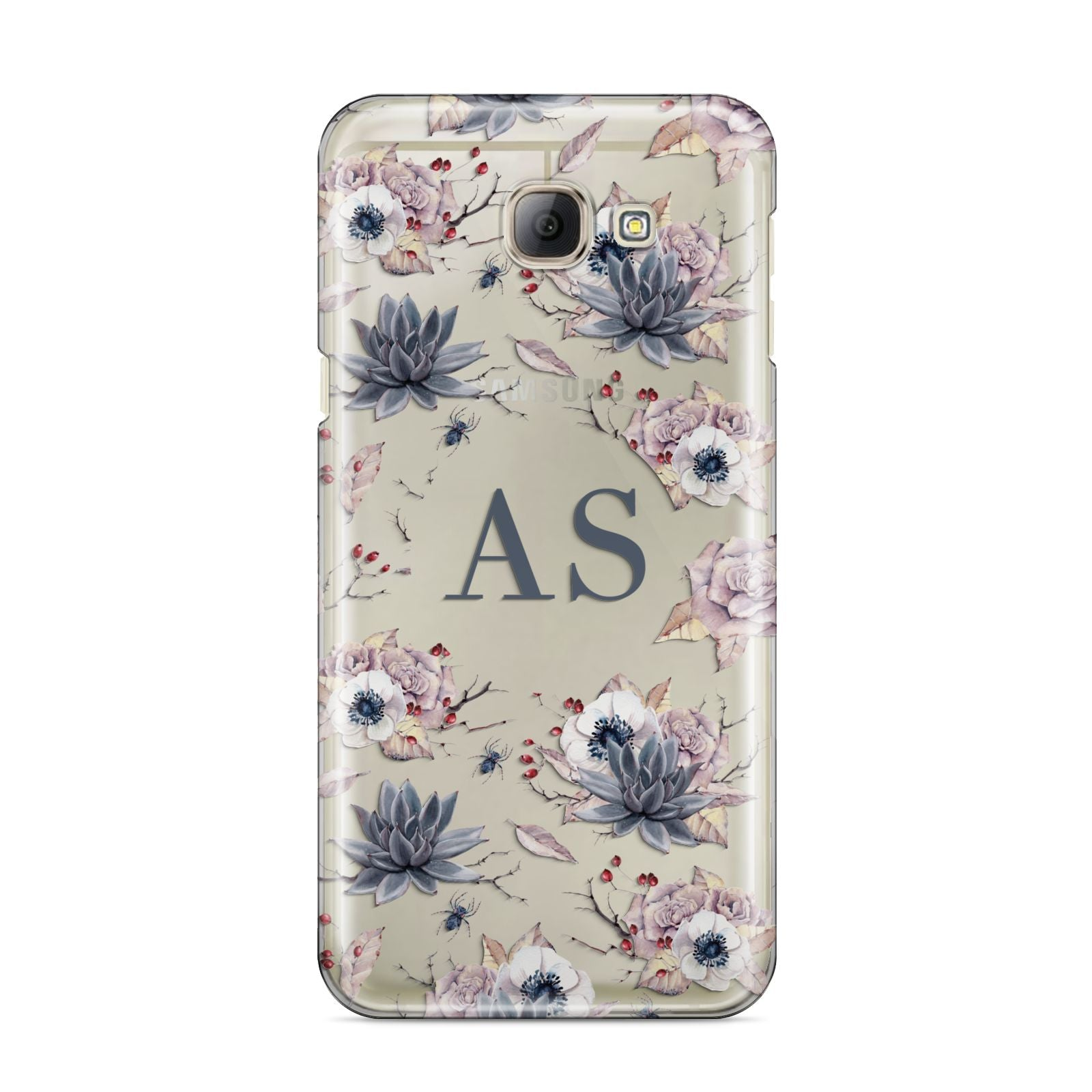 Personalised Halloween Floral Samsung Galaxy A8 2016 Case