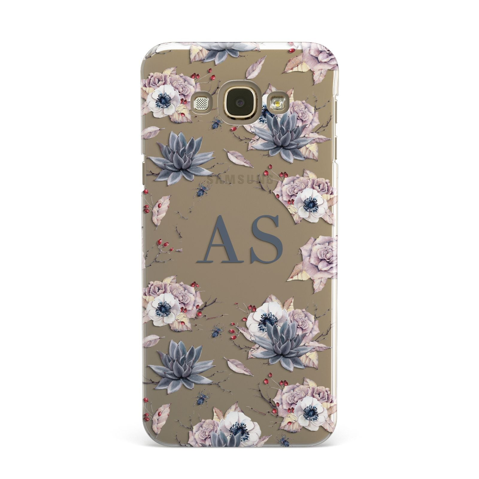 Personalised Halloween Floral Samsung Galaxy A8 Case