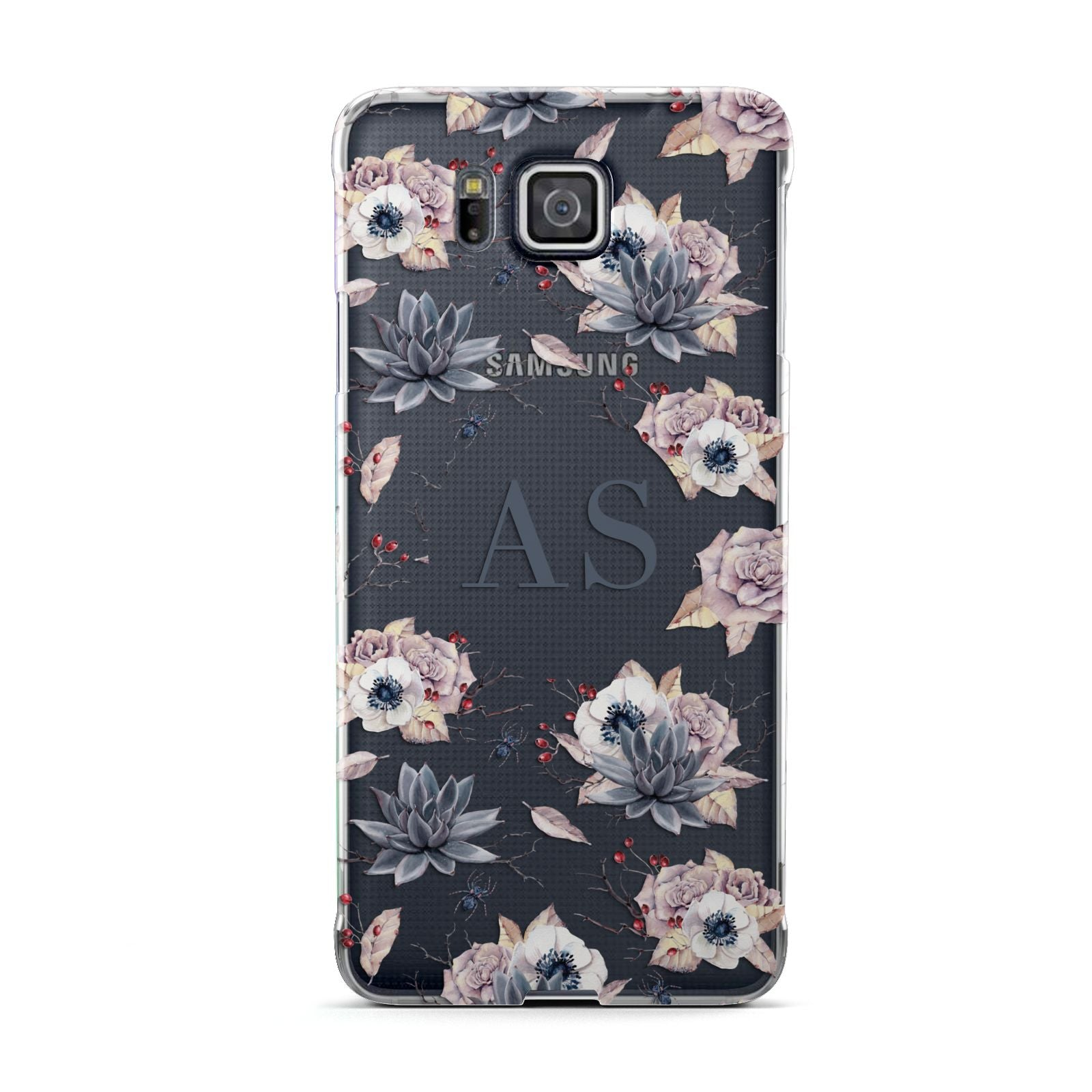 Personalised Halloween Floral Samsung Galaxy Alpha Case