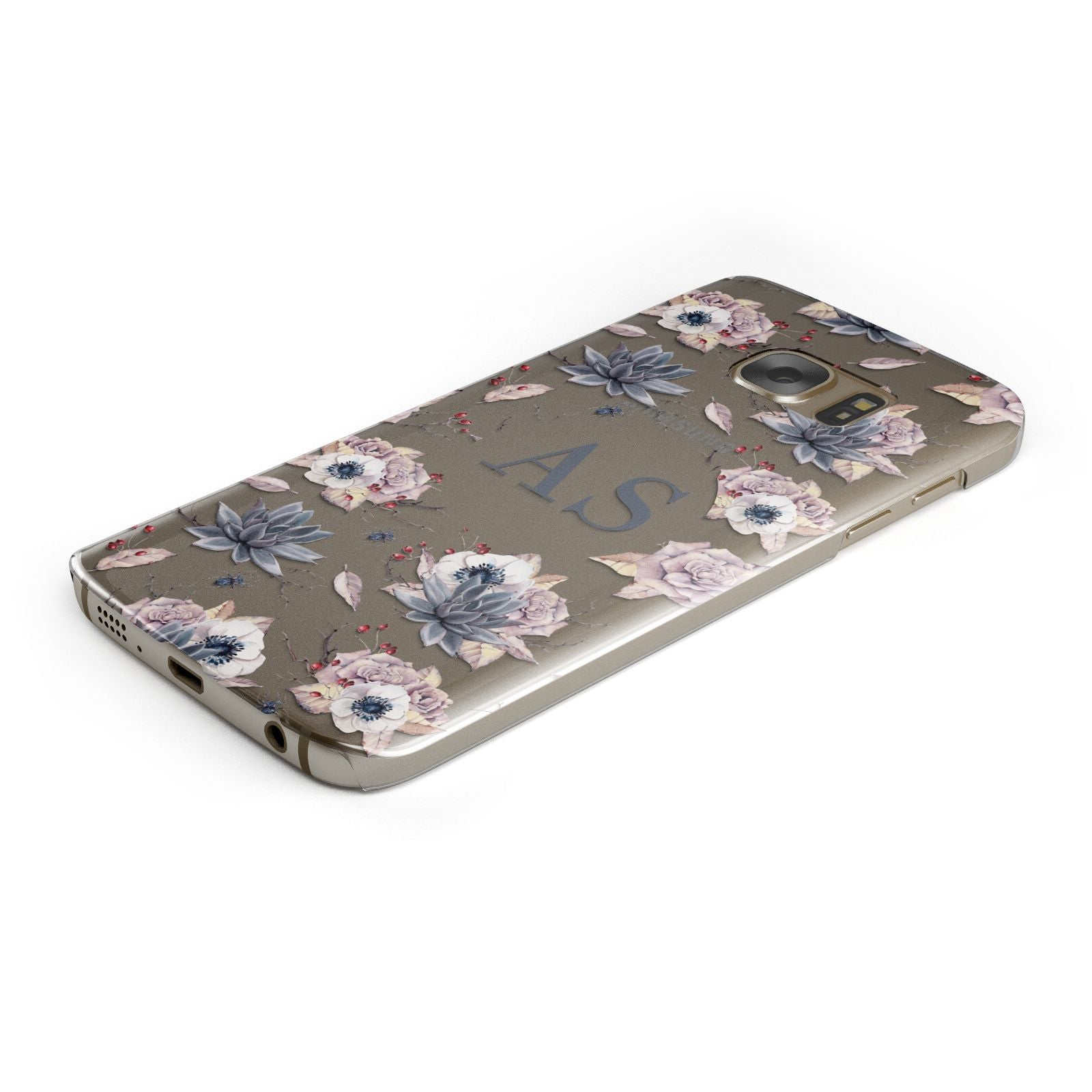 Personalised Halloween Floral Samsung Galaxy Case Bottom Cutout