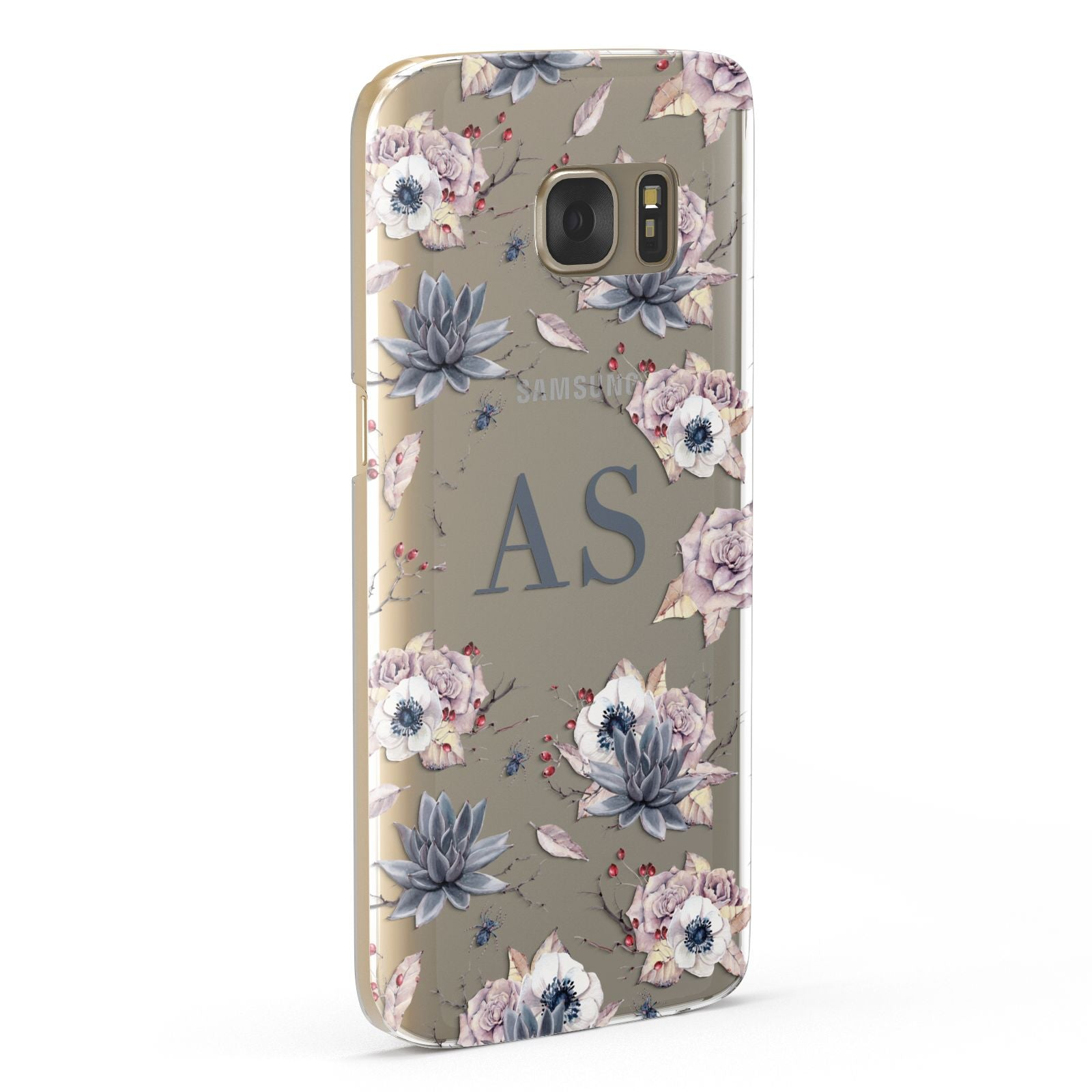 Personalised Halloween Floral Samsung Galaxy Case Fourty Five Degrees
