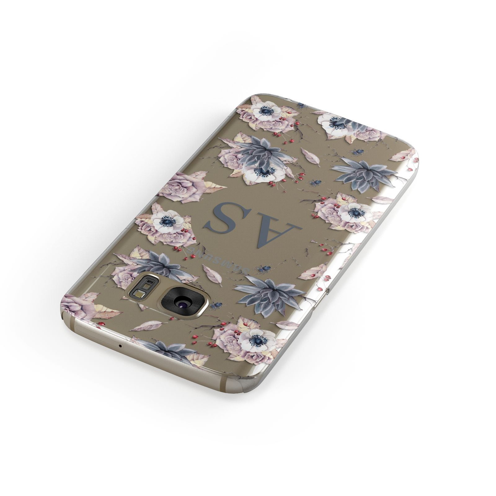 Personalised Halloween Floral Samsung Galaxy Case Front Close Up
