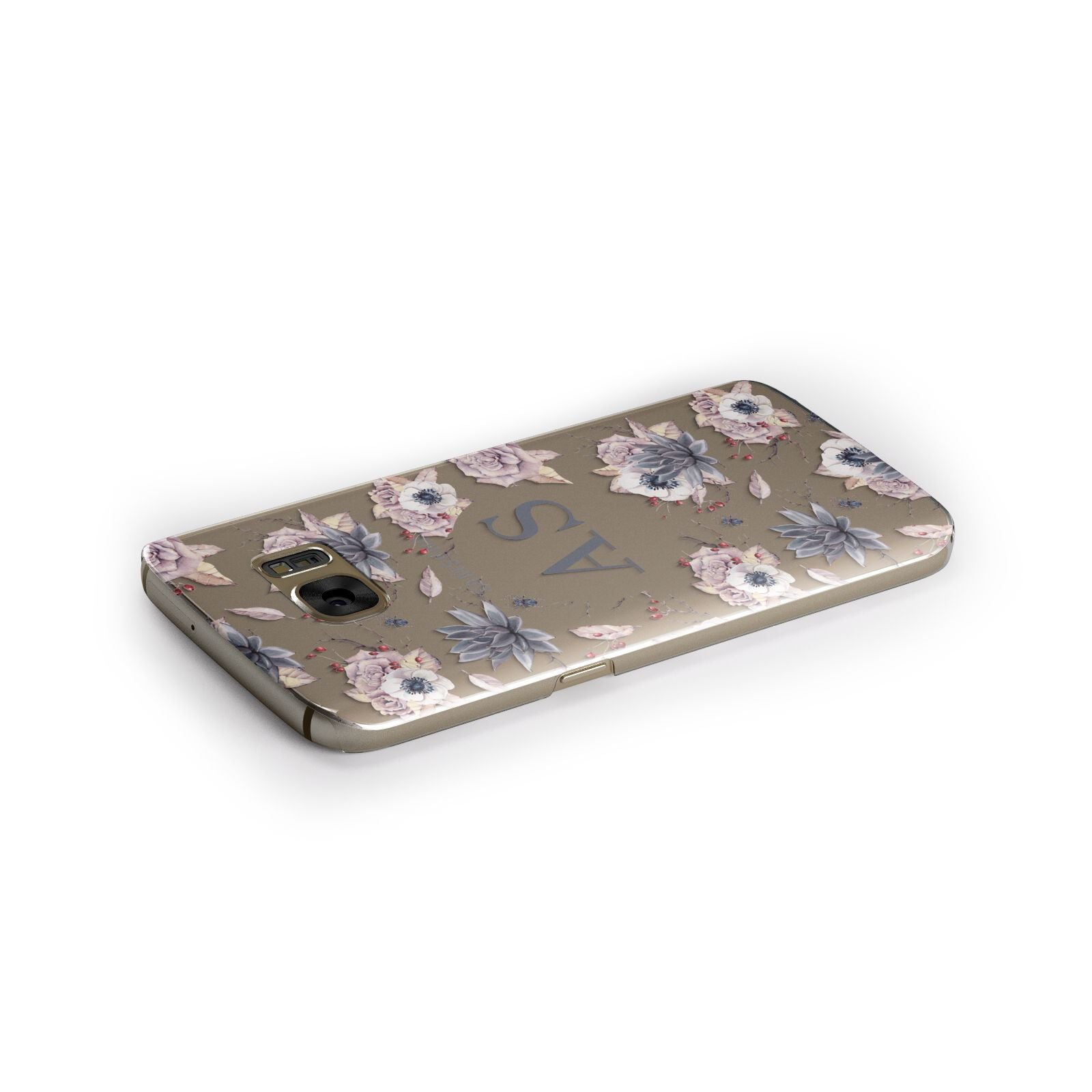 Personalised Halloween Floral Samsung Galaxy Case Side Close Up