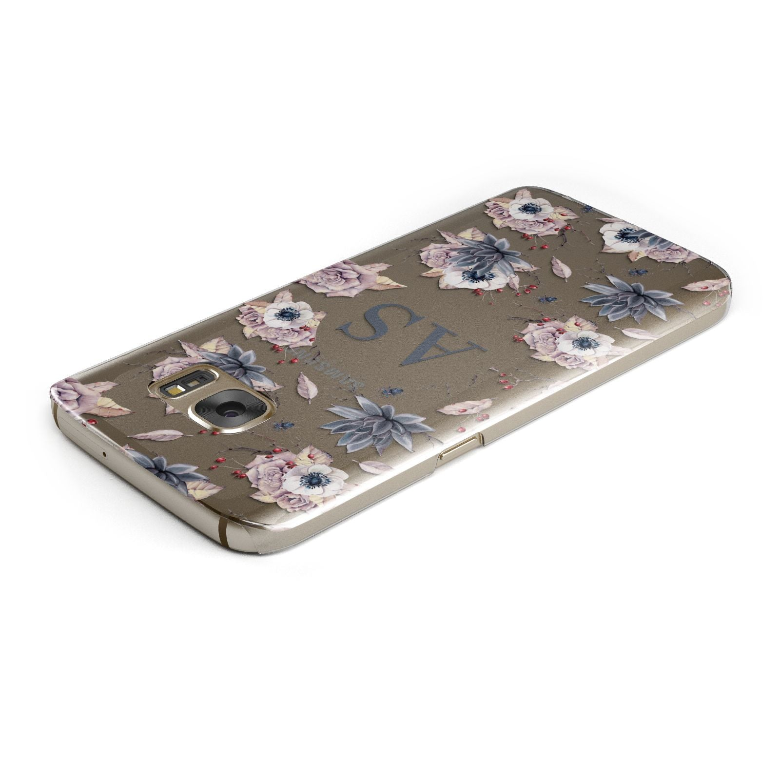Personalised Halloween Floral Samsung Galaxy Case Top Cutout