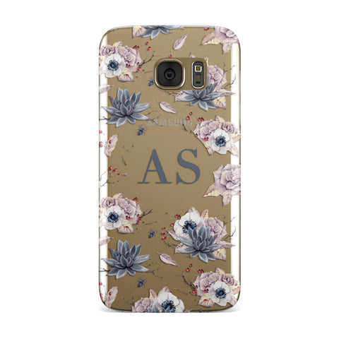 Personalised Halloween Floral Samsung Galaxy Case