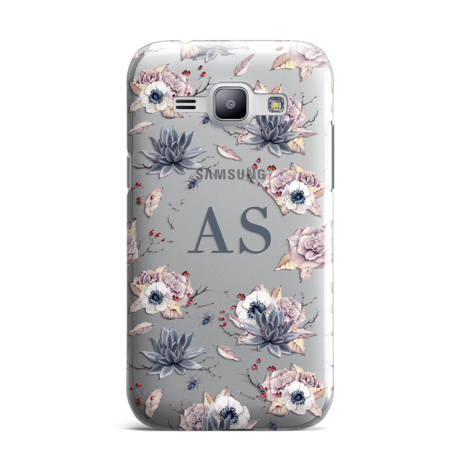 Personalised Halloween Floral Samsung Galaxy J1 2015 Case