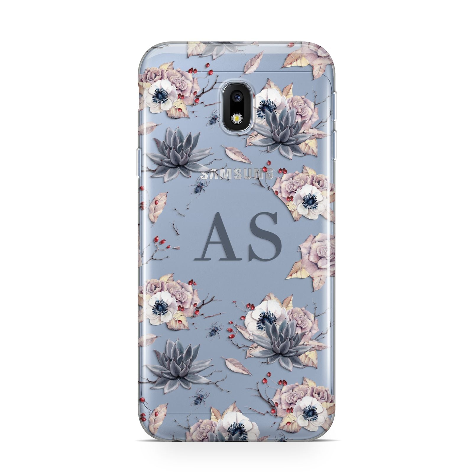 Personalised Halloween Floral Samsung Galaxy J3 2017 Case