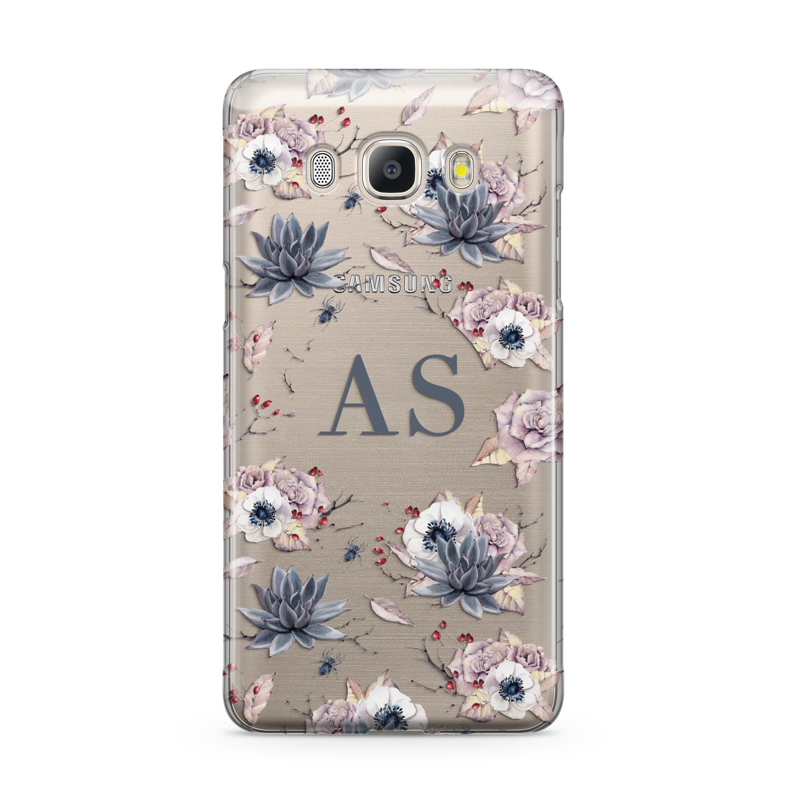 Personalised Halloween Floral Samsung Galaxy J5 2016 Case