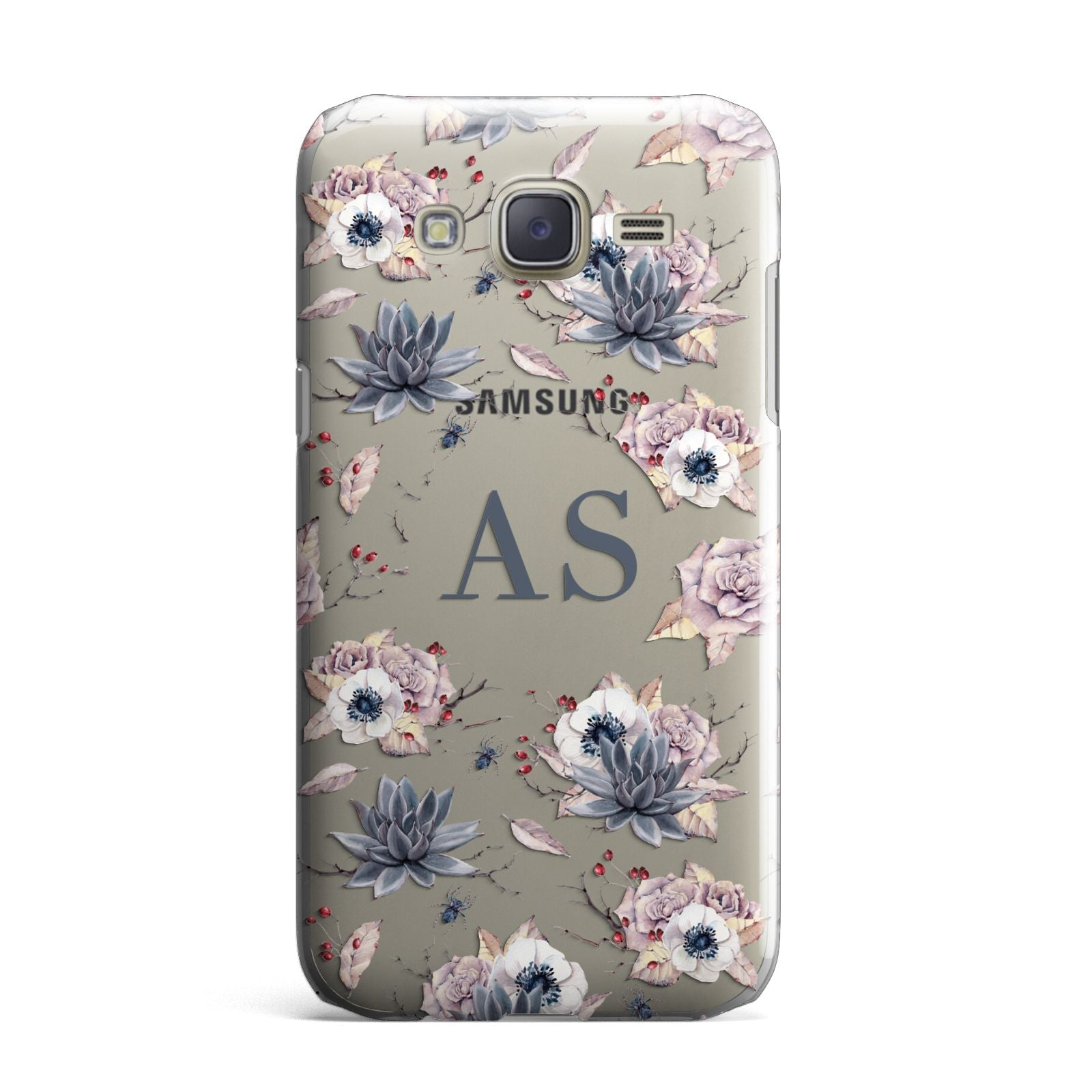 Personalised Halloween Floral Samsung Galaxy J7 Case
