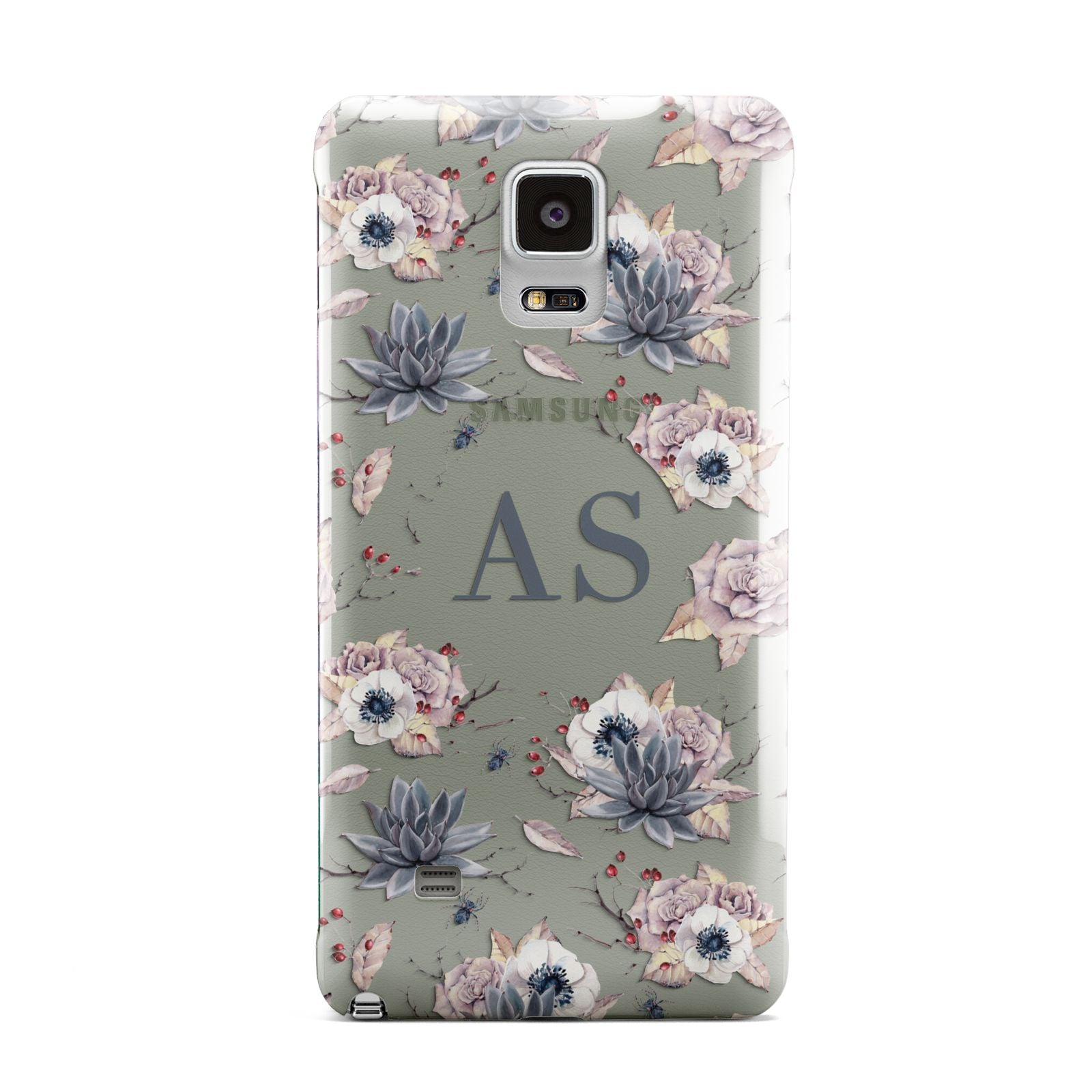Personalised Halloween Floral Samsung Galaxy Note 4 Case