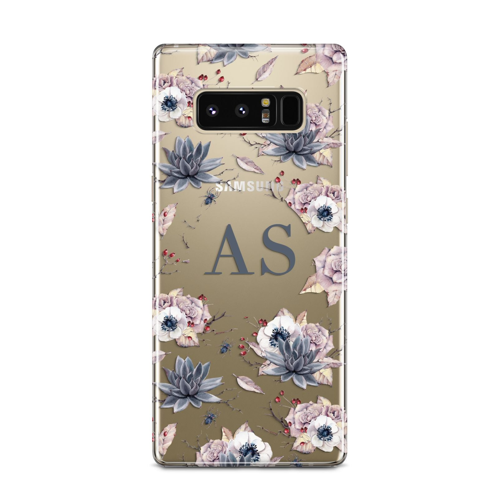 Personalised Halloween Floral Samsung Galaxy Note 8 Case