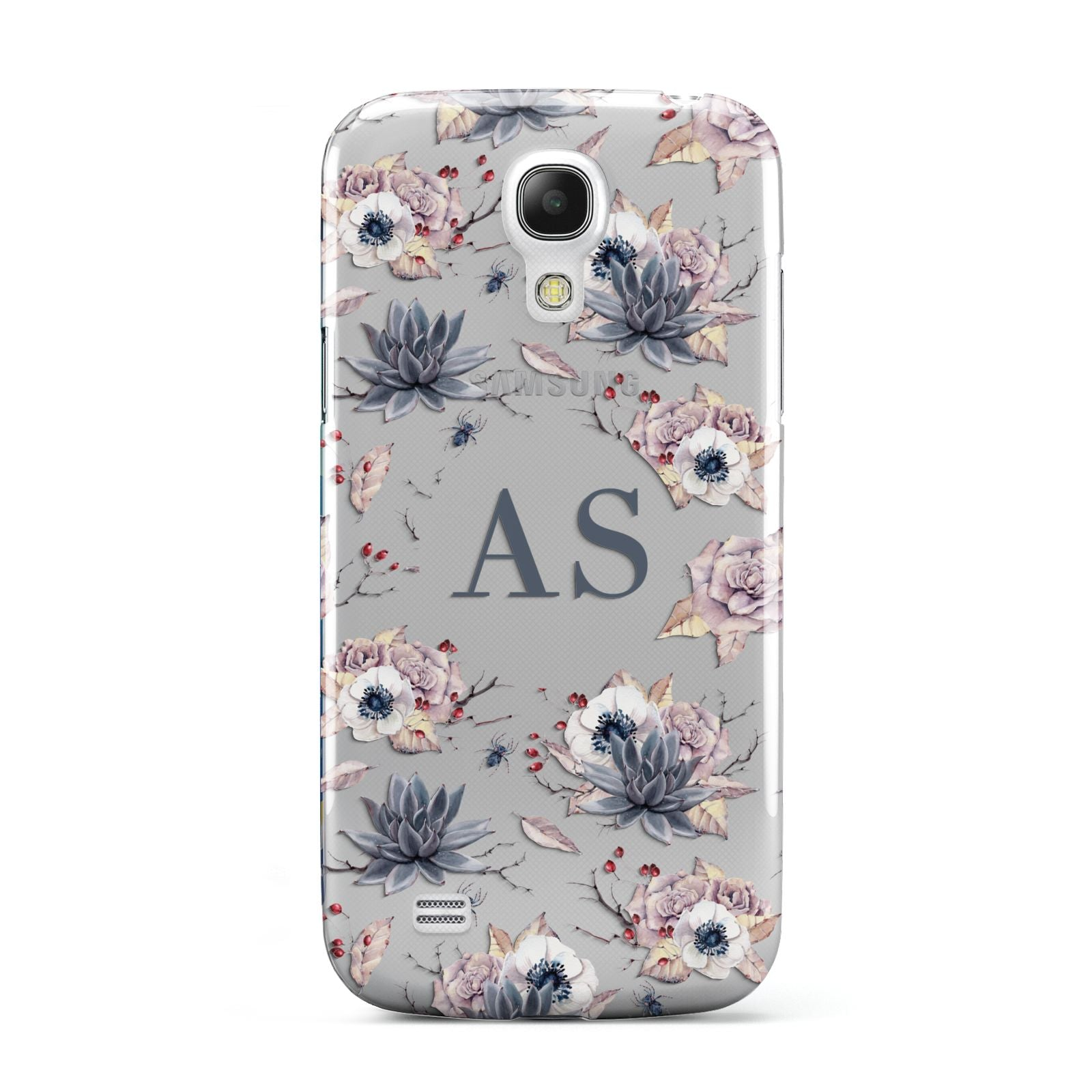 Personalised Halloween Floral Samsung Galaxy S4 Mini Case