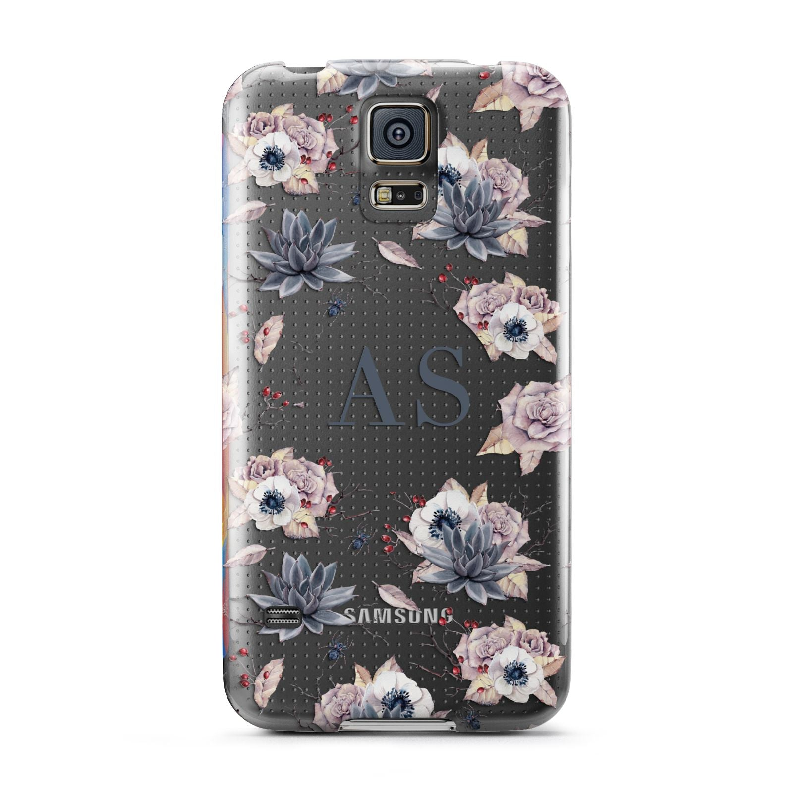 Personalised Halloween Floral Samsung Galaxy S5 Case