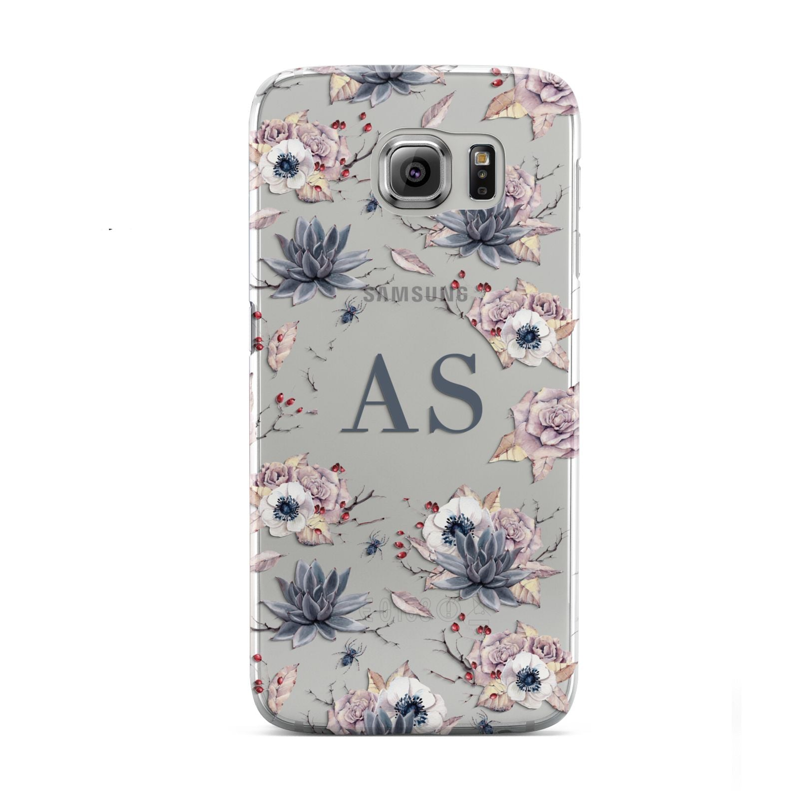 Personalised Halloween Floral Samsung Galaxy S6 Case