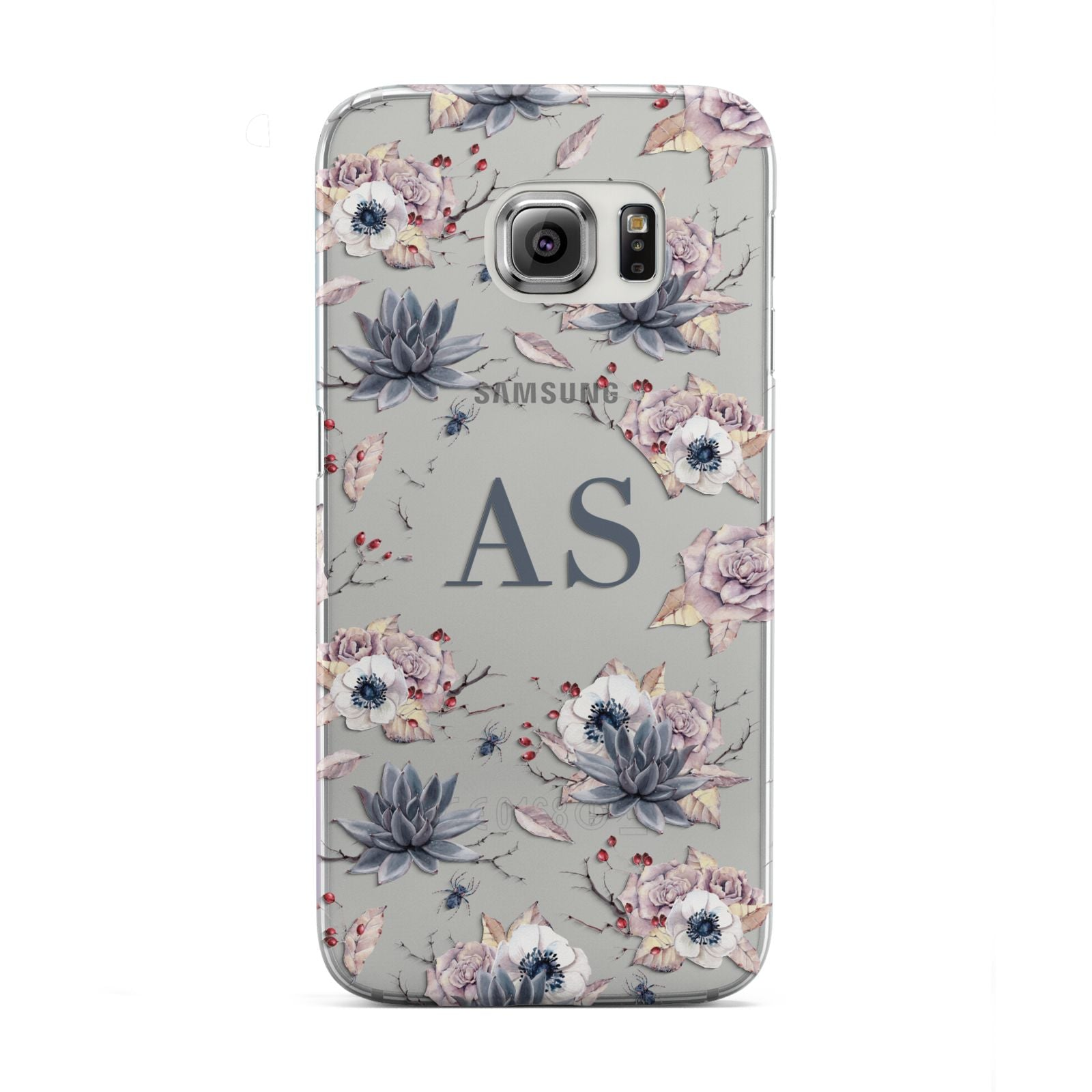 Personalised Halloween Floral Samsung Galaxy S6 Edge Case