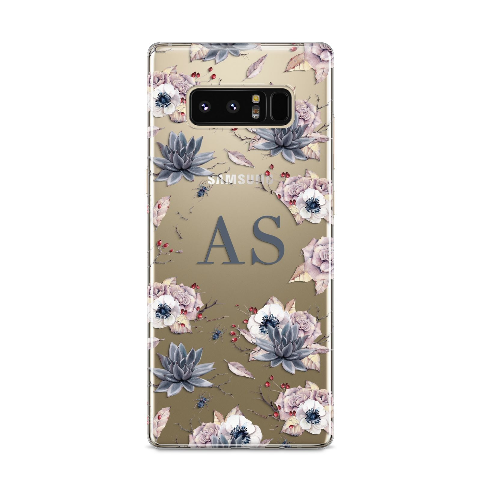 Personalised Halloween Floral Samsung Galaxy S8 Case