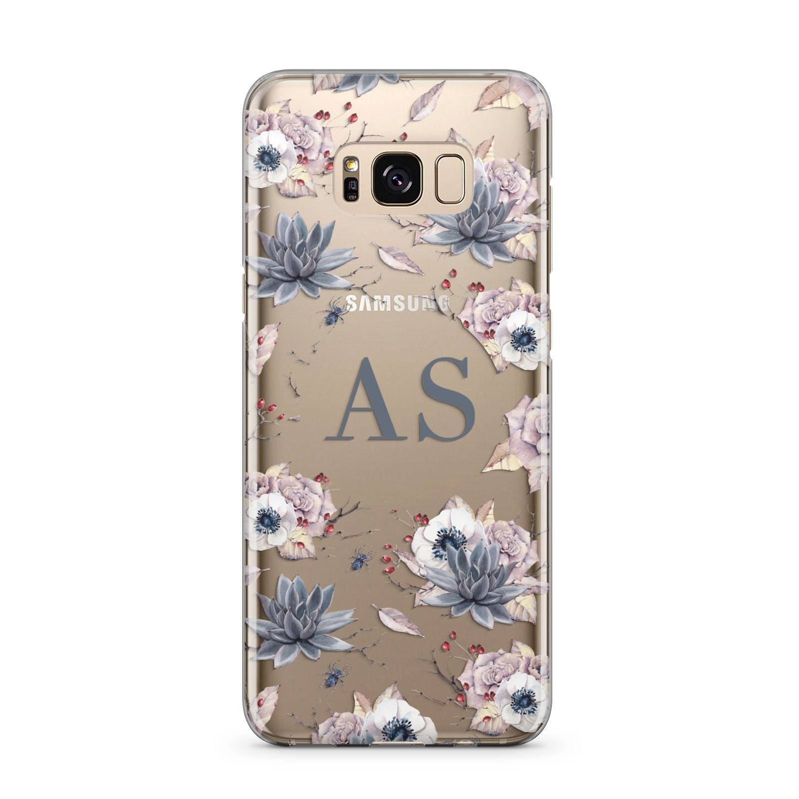 Personalised Halloween Floral Samsung Galaxy S8 Plus Case