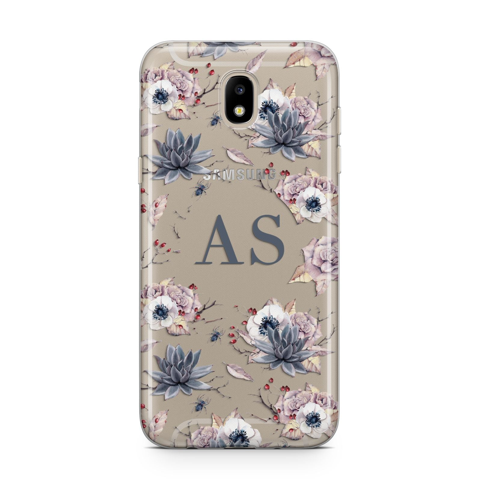 Personalised Halloween Floral Samsung J5 2017 Case