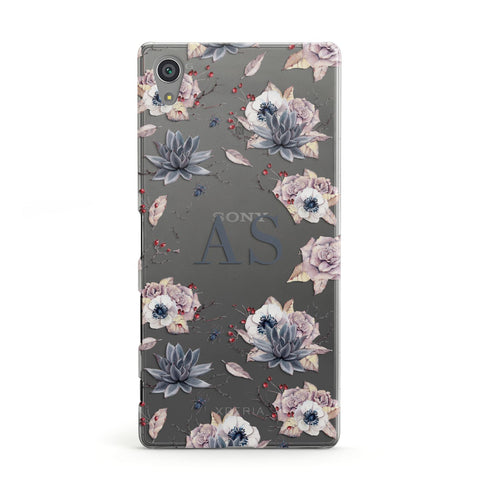 Personalised Halloween Floral Sony Case